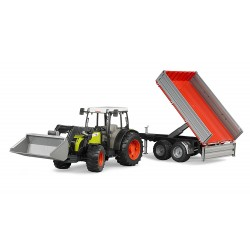 Claas Nectis 267 F + chargeur + remorque Bruder 02112 jouet toys