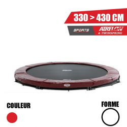 Trampoline Elite InGround rouge Berg