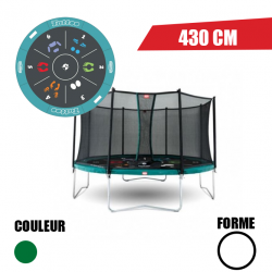 Trampoline Favorit tattoo 430 + Filet de sécurité Comfort Berg