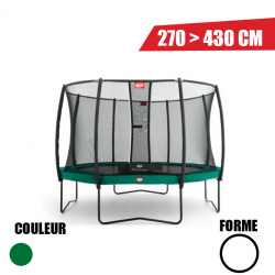 Trampoline Champion 270 + Filet de sécurité Deluxe Berg