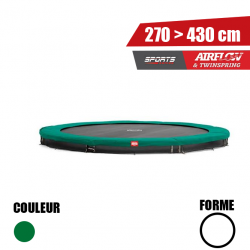 Trampoline INGROUND Champion Berg Vert - Série Sport
