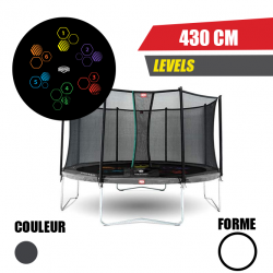 Trampoline Favorit tattoo 430 + Filet de sécurité Comfort Berg jouet toys