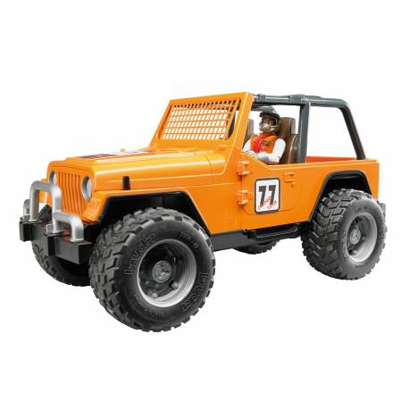 Jeep Cross Country BRUDER 02542 racer orange avec conducteur jouet toys