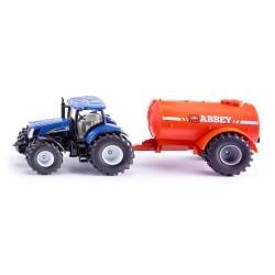 New Holland avec reservoir de lisier monoaxe Siku 1:50