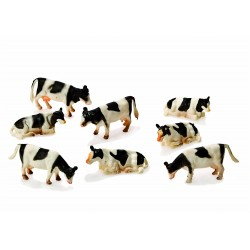 8 Vaches KIDSGLOBE 571878 1:87 jouettoys
