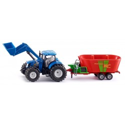 New Holland avec Strautmann Verti-mix 1:50 jouettoys