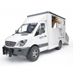 Camion de transport MB Sprinter avec cheval Bruder 1:16