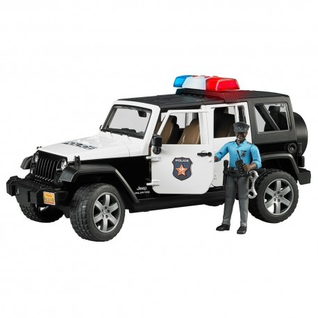 Jeep Wrangler Unlimited Rubicon police avec policier BRUDER 02527 jouet toys