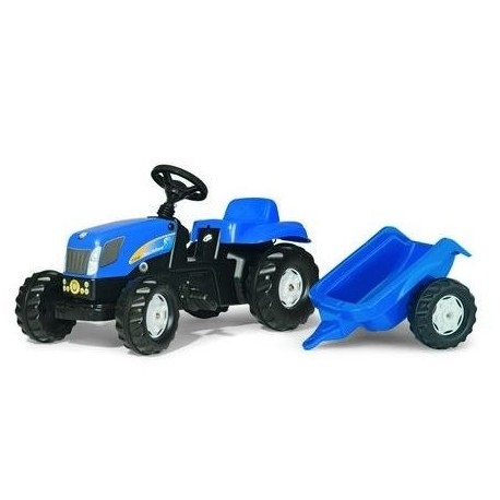 RollyKid New Holland TVT 190 avec remorque ROLLY TOYS jouettoys