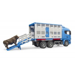 Camion de transport bétail Scania R-Series avec 1 animal 1:16