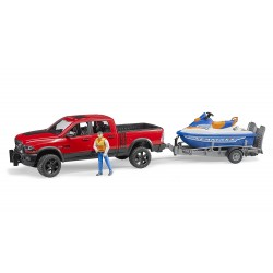 Jeep RAM 2500 Power Wagon avec jet ski et figurine