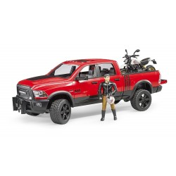 Jeep RAM 2500 Power Wagon avec moto Ducati et figurine