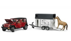 jeep avec van pour chevaux bruder