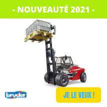 Nouveaute Bruder 2021 pas chers jouettoys : elevateur telescopique linde